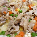 鶏もも肉とミックスベジタブルのハーブソルト煮☆レンジで3分半!