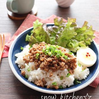 レンジで作る豚そぼろ☆生姜焼きの味 & くらしのアンテナにレシピ掲載♪