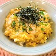 とろふわ卵の親子丼(レシピ付)。