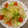 春キャベツと鯛のネギ塩カルパッチョ by lakichiさん