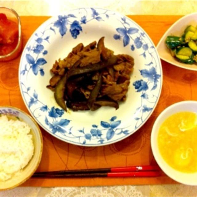 豚肉と茄子の味噌炒め