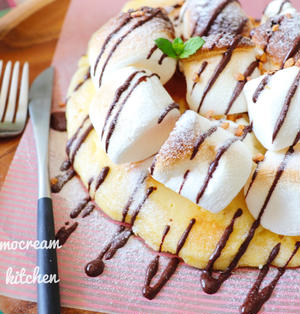 【レシピあり】ホットケーキミックスで焼きマシュマロピザ
