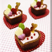 * バレンタイン ❤ ハートのピンク・チーズケーキ♪タルトバージョンで隠し味あり!