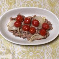 プチトマトと豚肉のおだし蒸し