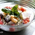 魚介の旨みたっぷり☆冷製スープパスタ