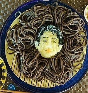 安倍総理大根おろしアート蕎麦