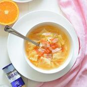 キャベツとトマトの減塩クミンスープ