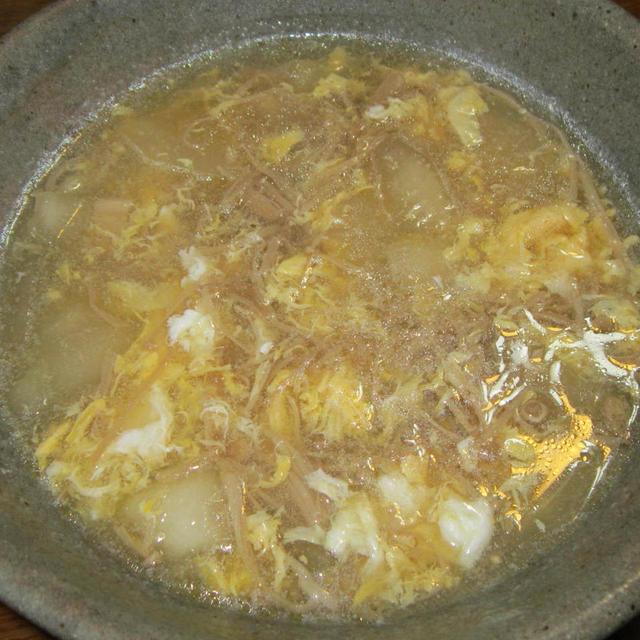 干しエノキと冬瓜の中華風スープ