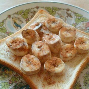 シナモンバナナトースト シナモンシュガーで簡単に