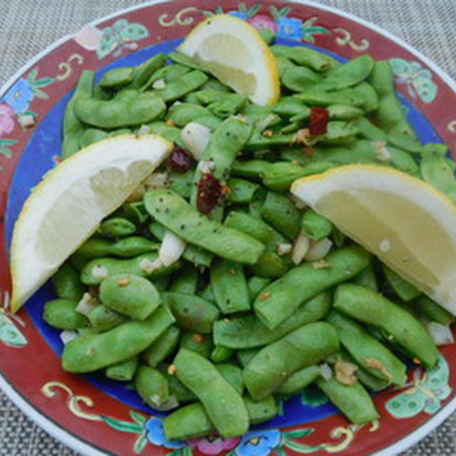 レモンたっぷり枝豆のペペロンチーノ