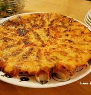 あさイチレシピ*「チーズ羽根つきギョーザ」をアレンジ