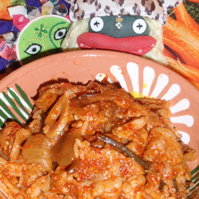 ヤンニョン山菜キムチご飯&浅漬け白菜キムチ(お家カフェ)