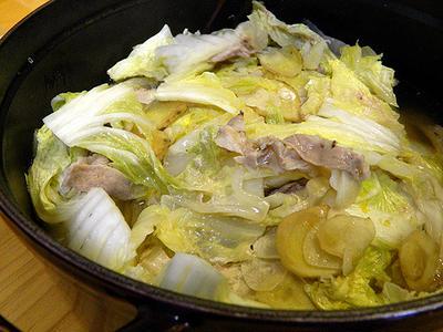 [メニュー017] 白菜と豚肉のコクマロ鍋(JUNAさん)