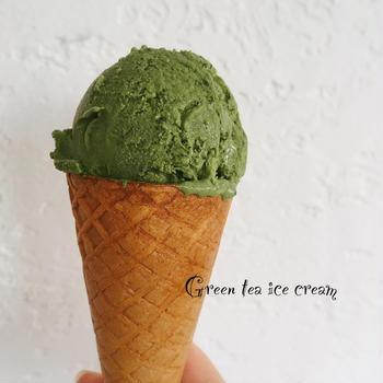 [簡単]おうちで抹茶アイス/ミントとタイム