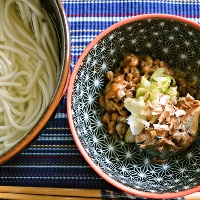 【山形名物 ひっぱりうどん】納豆とさば缶でおいしい朝うどん(印刷用)