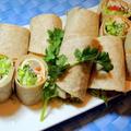 自家用ハワイのお土産で☆トルティーヤロールとガーリックシュリンプ☆レシピはチキンソテー、ピリ辛バターマヨソース添え