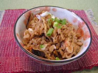 新生姜と干し椎茸のもっちりご飯