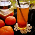 とろとろ〜♪完熟柿のティーソーダカクテル(フルブラ) *レシピ*