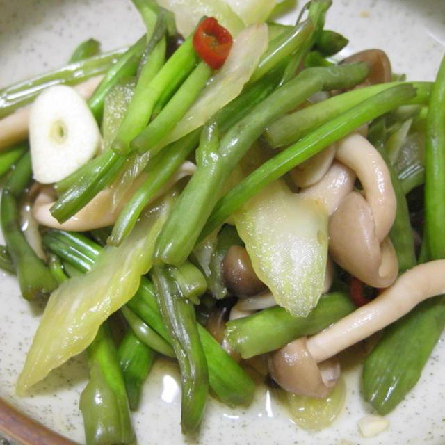 *空心菜と香味野菜のアジアン浅漬け