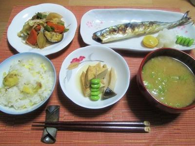 秋の食卓とうまソースde野菜炒め