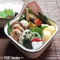 豚こまのマヨワインチーズ焼きベリークリームソースのお弁当 by YUKImamaさん