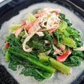 フライパン仕上げ♪グリーンリーフの温サラダ