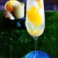 ジンジャー、甘夏、ワイン使用 爽やかカクテル  #金魚の肴  #Cocktail  #家バル