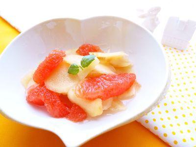 グレープフルーツの爽やか新生姜の甘酢漬け