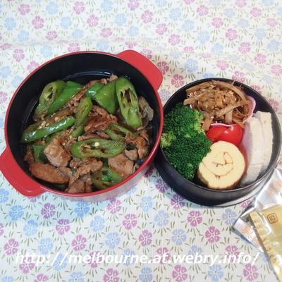SAでラーメン♪ ★ お弁当は 万願寺唐辛子と豚ロース炒め丼