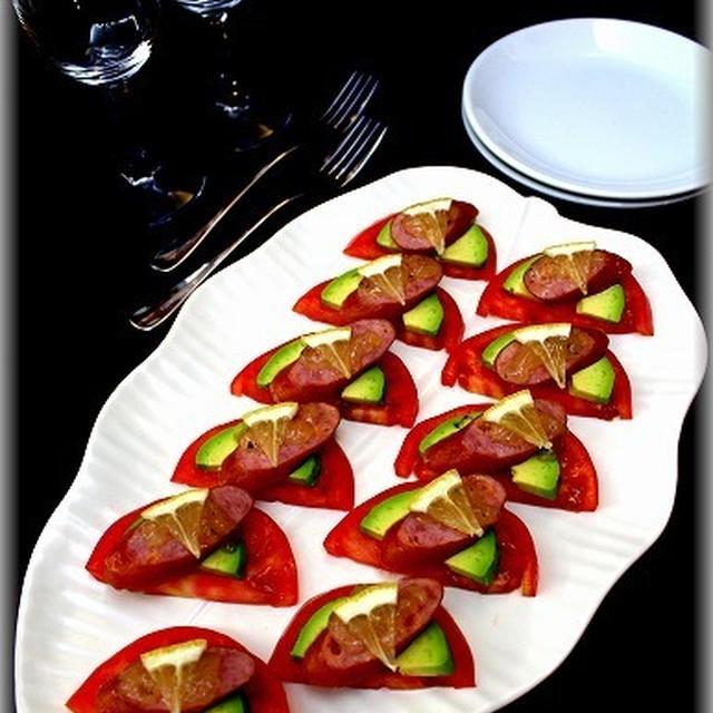 【ジョンソンヴィル】簡単♪トマトとアボカドの前菜