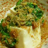野菜料理:モロヘイヤの冷奴