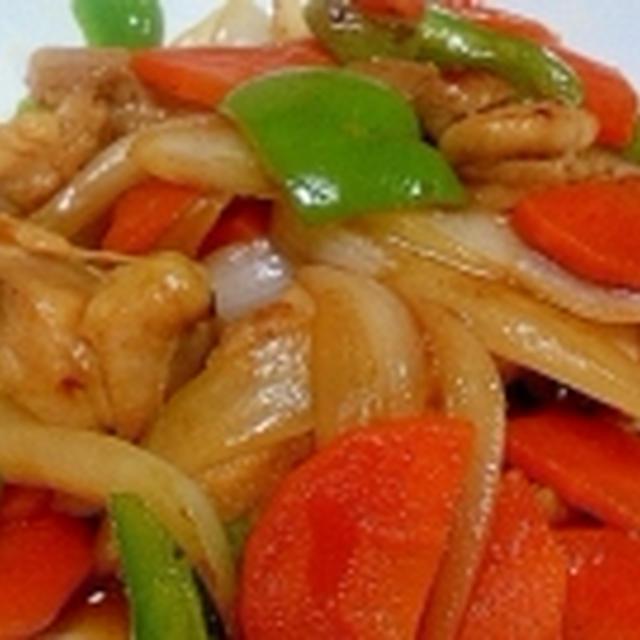 鶏野菜オイスターソース炒め