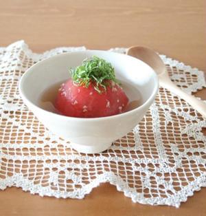 ひんやりトマトのお浸し