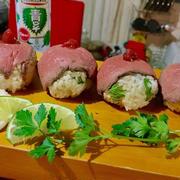 +*ローストビーフのてまりドレ寿司+*