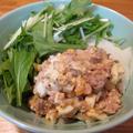 【旨魚料理】水菜とサンマ缶のサラダ