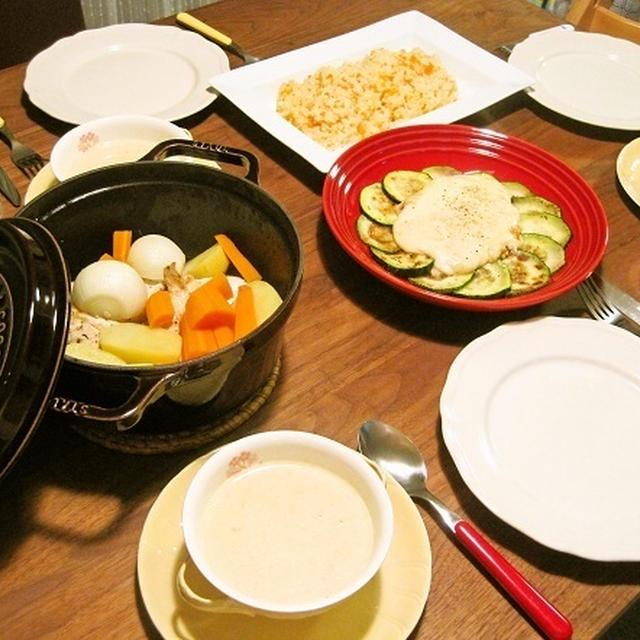 staubで*鶏胸肉と根菜の蒸し焼き