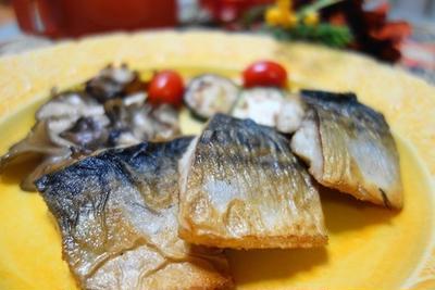 鯖の蒸し焼きローズマリー風味♪と残されちゃうスープ