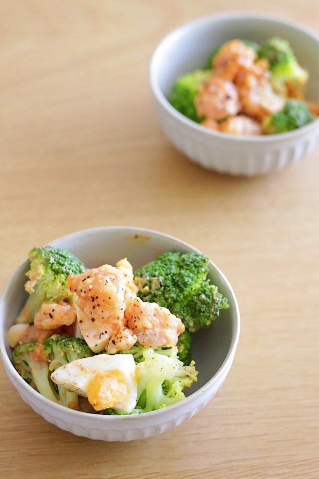 6. 気分上がる!海老マヨとブロッコリーのおかずサラダ