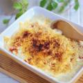 ホワイトソースは作らずに!牡蠣の味噌豆乳キムチの和風グラタン*思い出の整理、進んでおりますか?