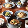 ピリ辛、麻婆豆腐。牛肉と大根の煮物。