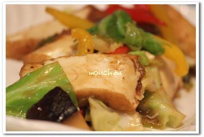 ☆彩り野菜と厚揚げ豆腐のオイスターソース炒め☆