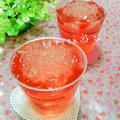 イチゴ酒deキラキラゼリー