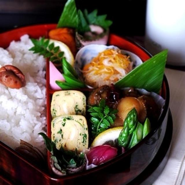 ◇帆立の中華風旨煮で亭主弁当