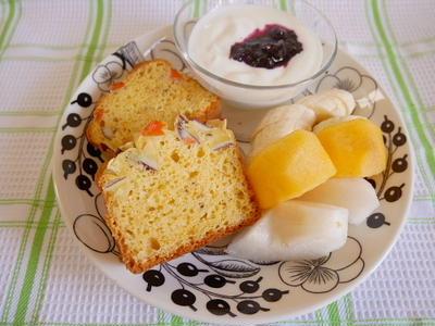にんじん&さつまいもの朝食パウンドケーキ