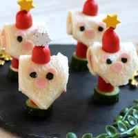 【簡単!クリスマスメニュー♪】超簡単デコ♪サンタのロールサンド
