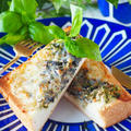 【こんがり磯の香り】たっぷりしらす干しと海苔のマヨチーズトースト