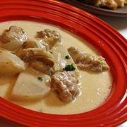 蕪と鶏肉の和風風味のクリームスープ☆