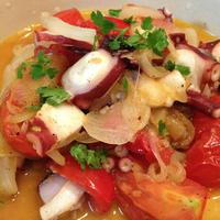 夏野菜づくし!「トマトとサーディンのパスタ」「トマトとタコのカレー風味ソテー」「夏野菜グリル」
