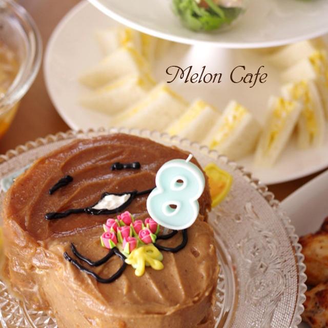 モンブランクリームの「おさわり探偵 なめこ栽培キット」ケーキ☆誕生日のキャラデコケーキ&他いろいろ
