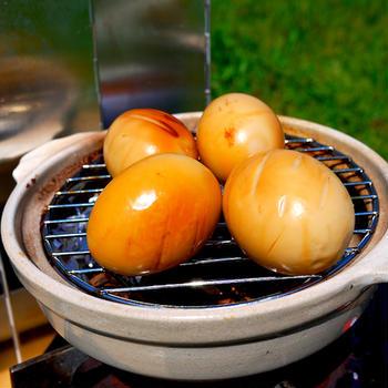 土鍋で燻玉